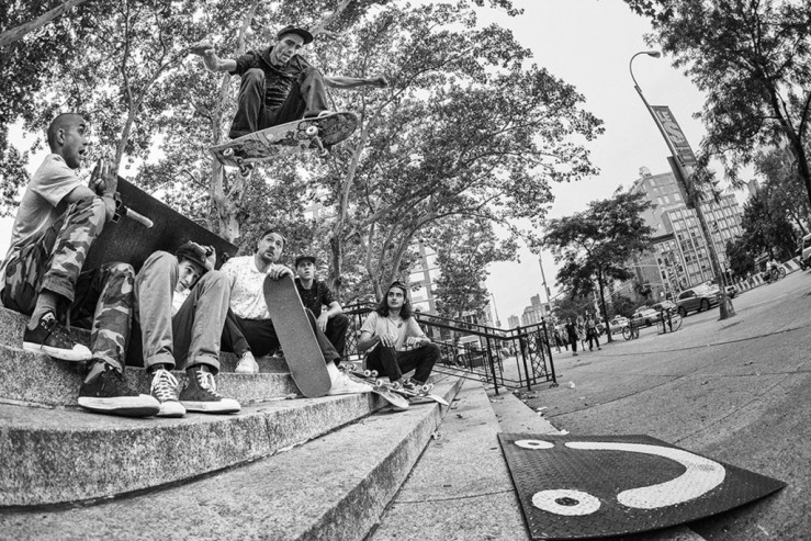 Aaron Herrington Wallie over Polar Skate Co team from Manhattan Days Speedway Skateboarding Magazine