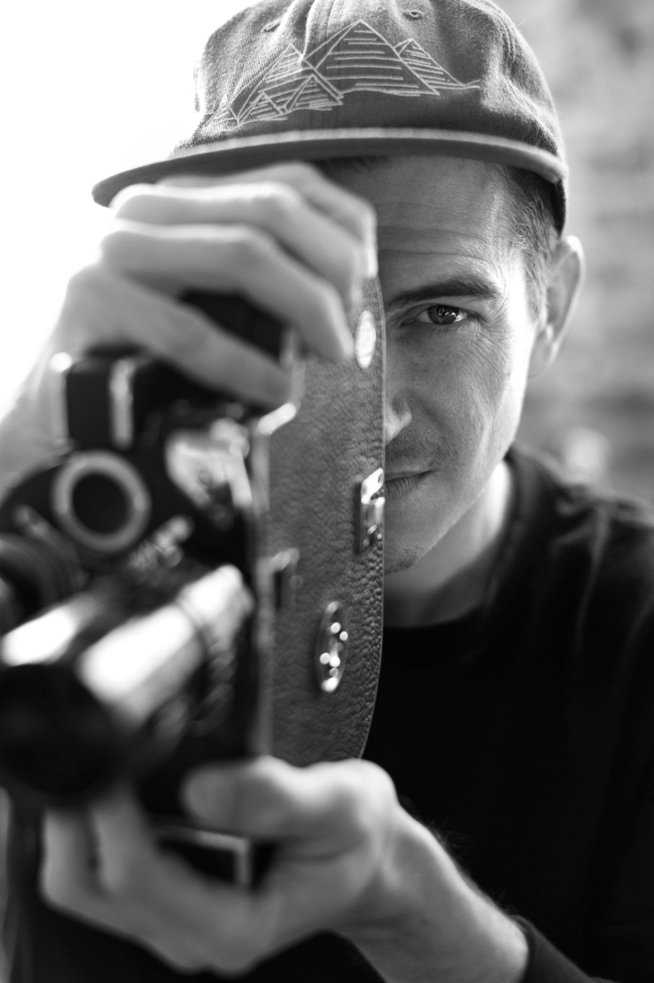Josh Stewart with camera black white extended Theories of Atlantis Static IV interview photo Pep Kim Speedway Skateboarding Magazine