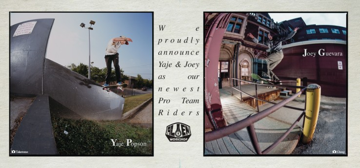 yaje-popson-joey-guevara-alien-workshop-pro-debut-advert-with-boards-speedway-skateboarding-magazine