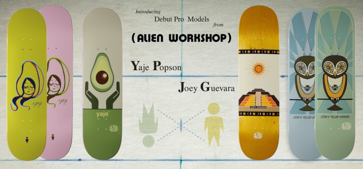 yaje-popson-joey-guevara-debut-alien-workshop-pro-decks-speedway-skateboarding-magazine