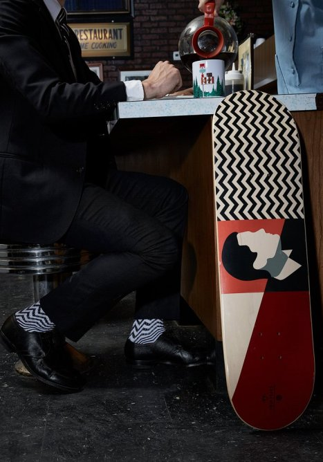 Habitat Skateboards Twin Peaks Agent Dale Cooper deck red 8.25 Speedway Skateboarding Magazine