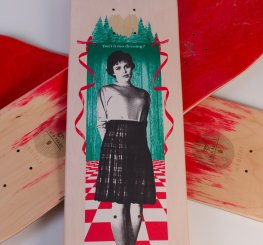 Habitat Skateboards Twin Peaks Audrey 8.5 isnt it too dreamy deck Speedway Skateboarding Magazine