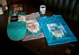 Habitat Skateboards Twin Peaks RR Cafe deck t shirts Speedway Skateboarding Magazine