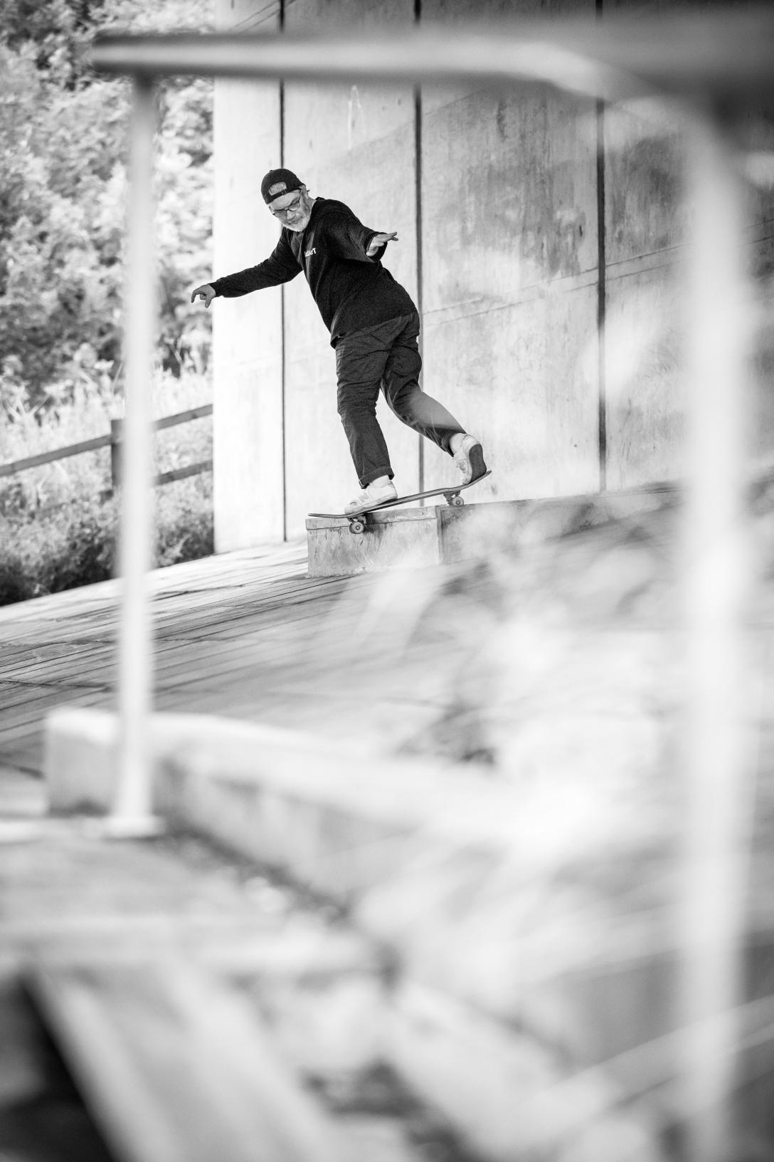 David-Mackey-Backside-Lipslide-Preston-New Balance Numeric Barge at Will tour photo-Chris Johnson Speedway Skateboarding Magazine