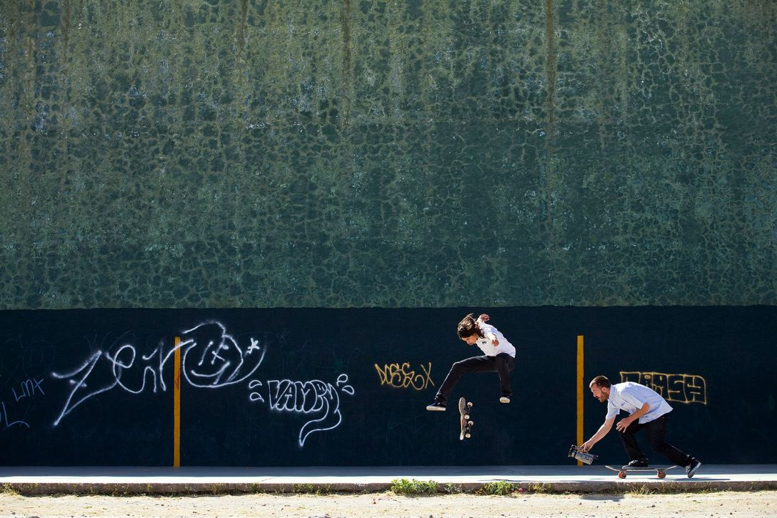 Greg Hunt filming Dylan Rieder Mind Field