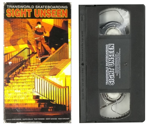 Transworld Skateboarding Sight Unseen VHS Heath Kirchart Greg Hunt Speedway Mag Interview
