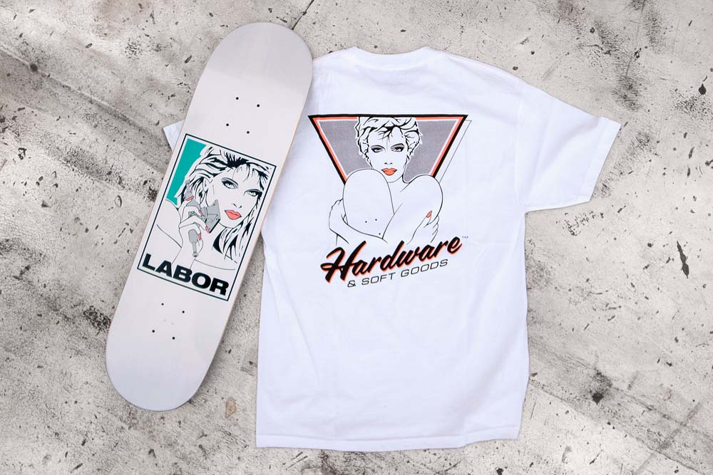 Labor Skate Shop New York City Hardware and Soft Goods Deck T-Shirt Fall 2015 artwork by Nic Jamieson James Rewolinski Speedway Mag Interview